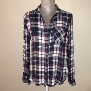 Top shop flannel shirt